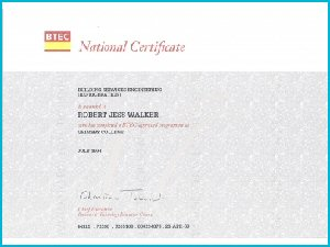 Scan of Certificate 2